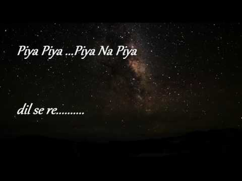 dil se re  (lyrics) rock version
