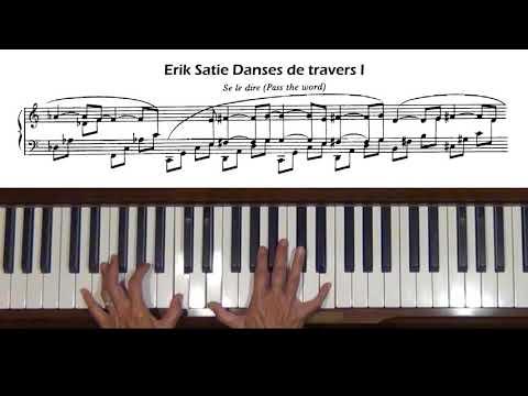 Érik Satie Pièces froides Danses de travers I Piano Tutorial