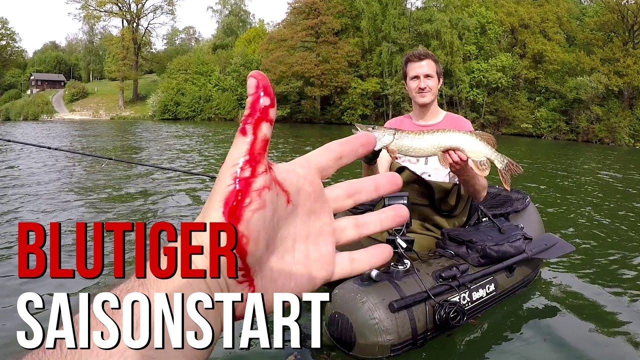 Tim in Gefahr! | Hechtangeln vom Belly Boot
