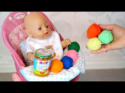 Беби Бон Открывает Шарики Сюрпризы Плей До Как Мама Кормила Куклу Детским Питанием 108мама тв