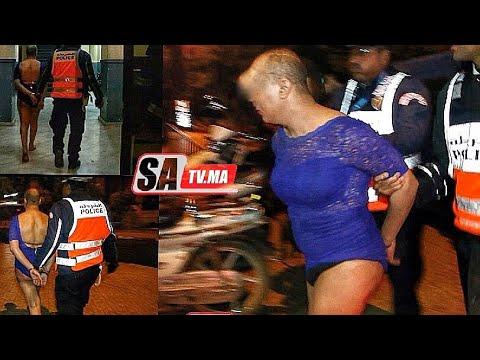 احداث مثيرا .... رجل بلباس النساء تسبب بحادث سير خطيرة في قبضة الشرطة  بمراكش