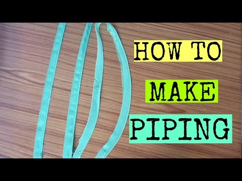 How To Make Piping | Easy DIY