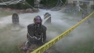 Grillo Halloween Decorations 2012 - Demonica Zombie, Guardian Of The Grave, And More!