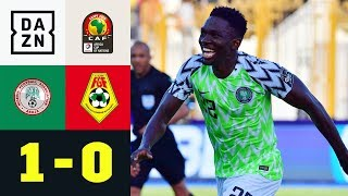 Kenneth Omerou köpft Nigeria ins Achtelfinale: Nigeria - Guinea 1:0 | Afrika-Cup |Highlights | DAZN