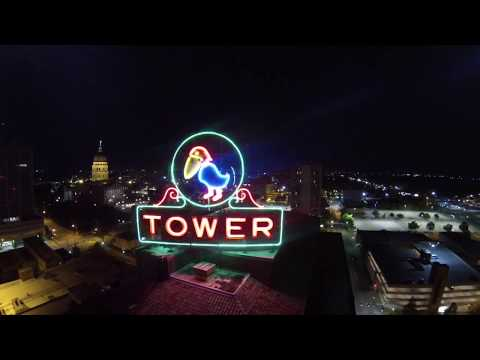 Downtown Topeka Aerial Tour 20x Speed - 35 seconds