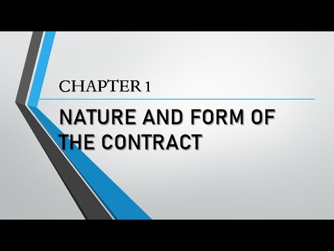 Sales Chapter 1 Nature and Form of the Contract (includes Re