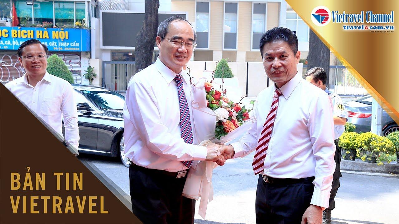 Bí thư Thành ủy TP.HCM Nguyễn Thiện Nhân chúc tết Công ty du lịch Vietravel | Vietravel