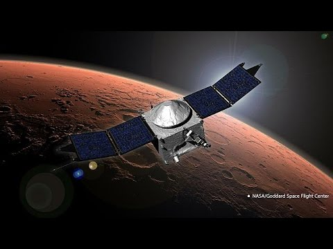 Maven spacecraft enters Mars orbit on a mission to discover planet's past