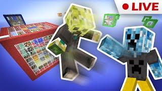 Прыжки по стеклянным кубикам - Glassblock PvP - RedCrafting Stream