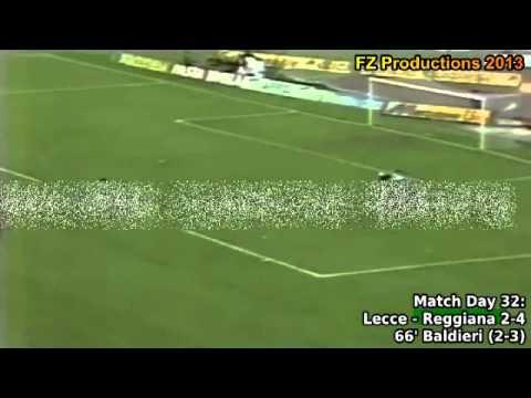 Serie A 1993 1994, day 32 Lecce   Reggiana 2 4 Baldieri goal)
