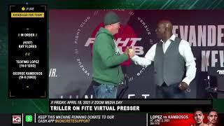 Evander Holyfield vs Kevin McBride Go Face 2 Face At Triller Kick Off Press Conference