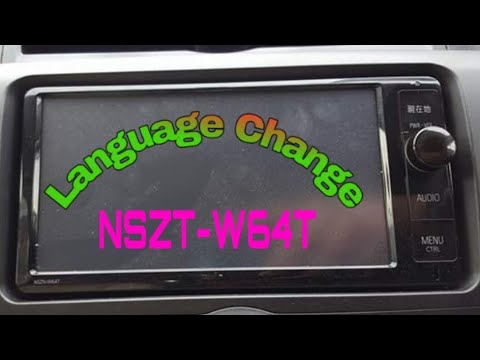 Change nszt-w62g language Toyota NSZT