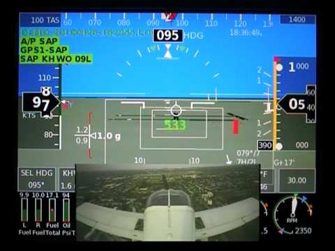 GRT Sport SX Landing with Synthetic Vision & Tail Camera