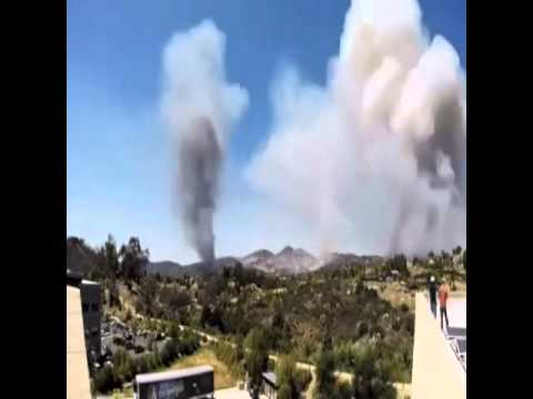 san marcos cali wildfire   time lapse shows growth