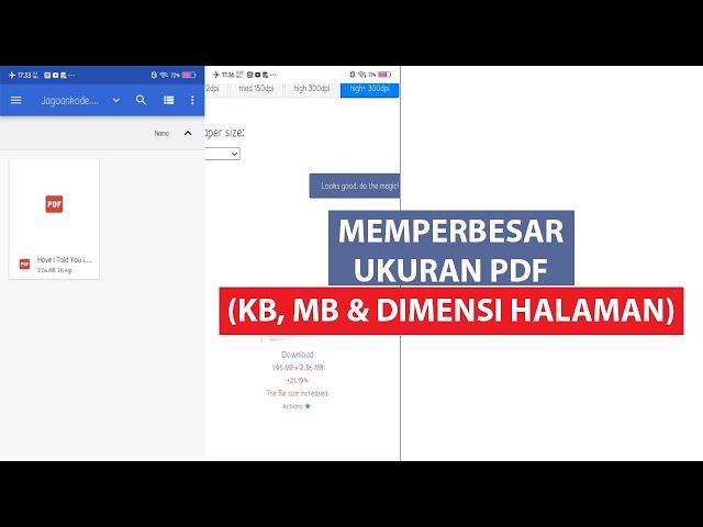 Cara Memperbesar Ukuran PDF (Kb, Mb, dan Dimensi Halaman)