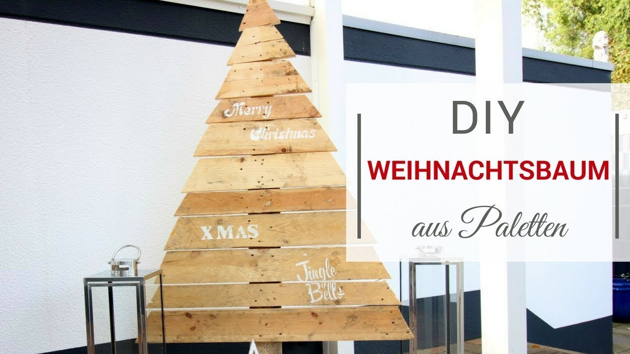 diy weihnachtsbaum aus paletten youtube. Black Bedroom Furniture Sets. Home Design Ideas