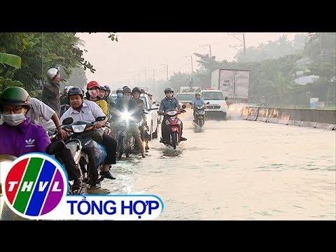 THVL | Triều cường dâng cao làm ách tắc giao thông quốc lộ 1