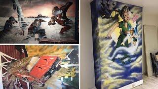 Amazing Dad Creates Fascinating Wall Art