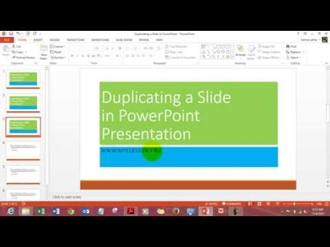 Duplicate a Slide in MS PowerPoint