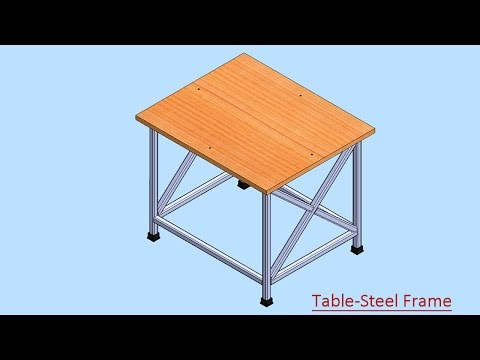Table-Steel Frame (Video Tutorial) SolidWorks
