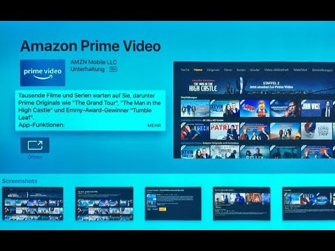 Amazon Prime Video App auf Apple TV 4K installieren (4K Ultra HD / HDR)