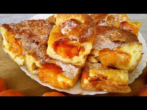 Bakina kuhinja - brza palačinka u rerni sa  kajsijama sjajan recept