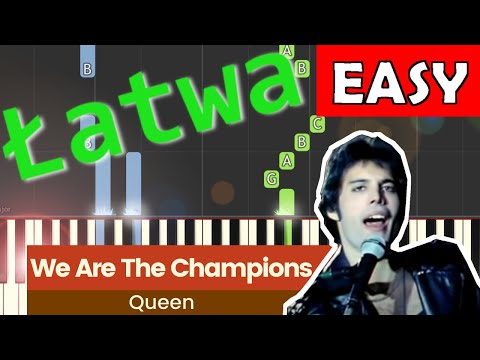 🎹 We Are The Champions (Queen) - Piano Tutorial (łatwa wersja) 🎹