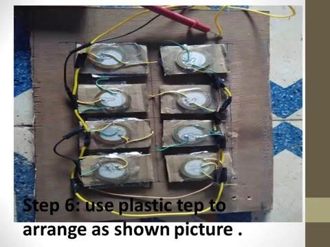 Homemade Piezoelectric Generator