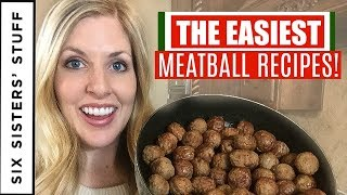 How to Make the BEST Meatballs 4 Different Ways! Swedish, Sliders, Sweet and Sour, and Brown Sugar