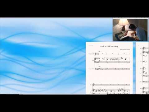 I fall In Love Too Easily accompaniment Sibelius Music Sheet Chet Baker