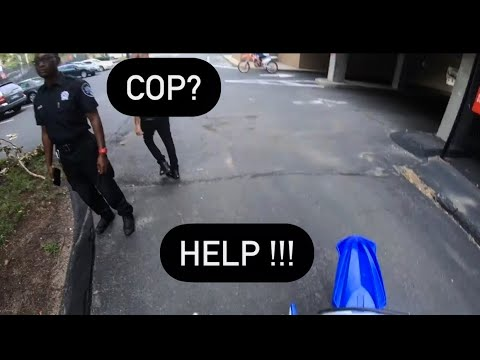 DIRTBIKE BOGS OUT INFRONT OF COPS!?????