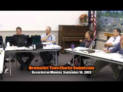 Town Charter Commission 09/16/2013 (Newmarket, New Hampshire)