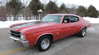 1972 Chevy red Chevelle SS for sale at www coyoteclassics com