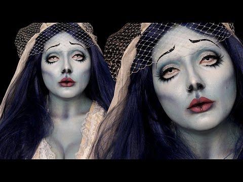 Corpse Bride Emily Halloween Costume Makeup Tutorial