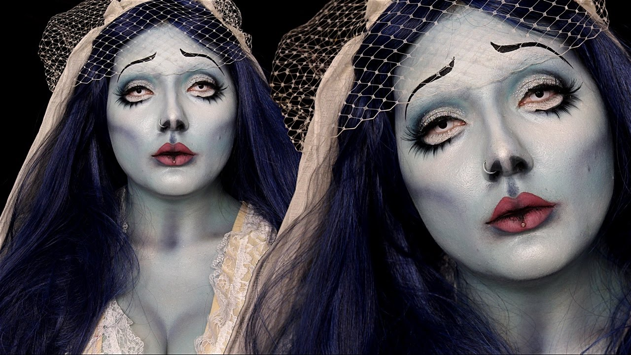 corpse bride emily halloween costume makeup tutorial