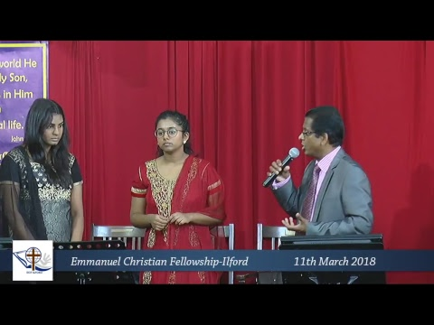 ECF Ilford - 11/03/2018 Live Service -London Tamil Church