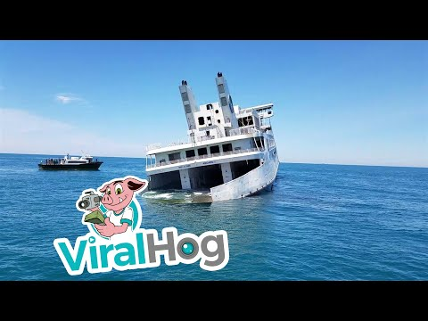 Sinking the MV Twin Capes Ferry || ViralHog