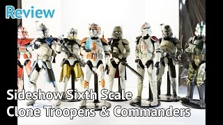 #7 Review - Sideshow Collectible Star Wars 1/6 Phase II Clone Troopers Line Up