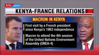 Uhuru, Macron to discuss the proposed development of commuter rail services to JKIA