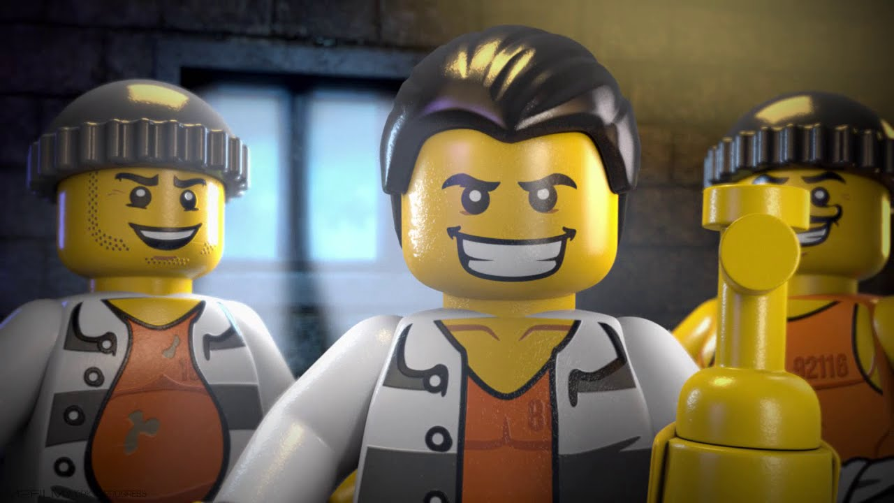 The Escape From Prison Island Lego City Mini Movie 3d Youtube