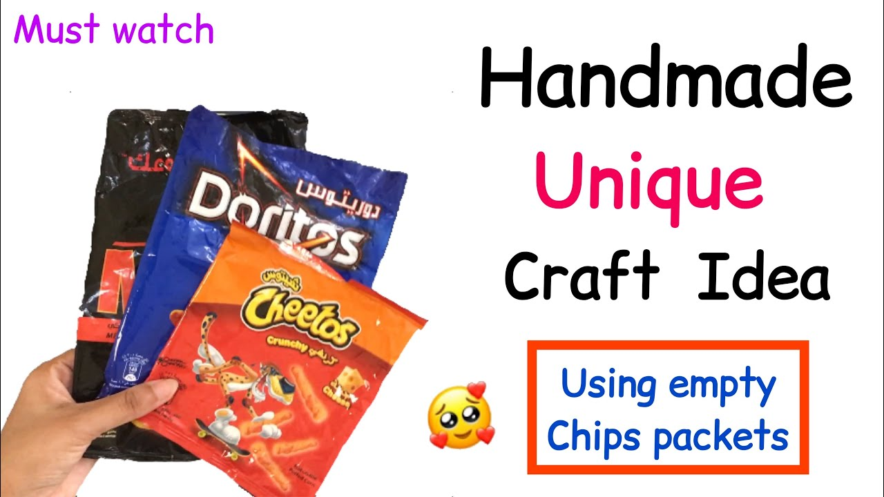 Empty Chips Packet Craft /Best out of waste craft / Home Decoration ideas / wall hanging craft ideas
