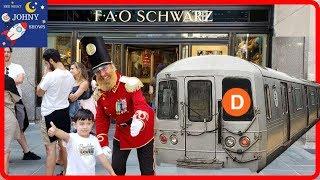 Johny's MTA Subway Train Ride To FAO Schwarz NYC Rockefeller Center