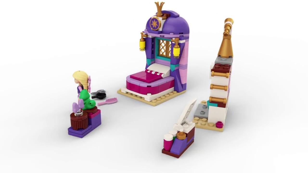 lego disney princess 41156 rapunzels slaapkamer 360