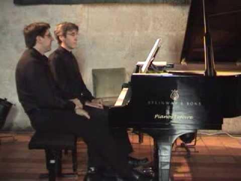 Erik SATIE: La Belle Excentrique, piano 4 mains, Laurent Bonaccorsi & Jean-Louis Garcia
