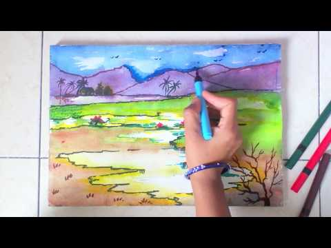 scenery painting for kids in simple steps
