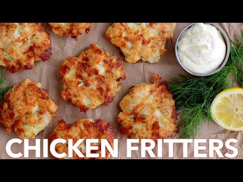 How To Make Cheesy Chicken Fritters - Must Try Recipe