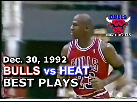 December 30 1992 Bulls vs Heat highlights