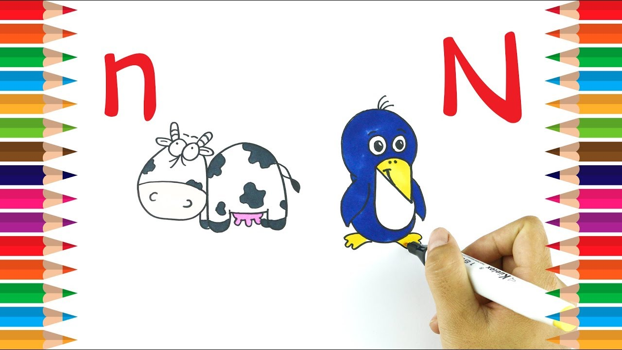 This is a photo of Canny Letter N Drawing