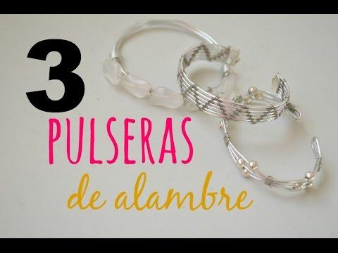 7c2cb0133a04 DIY Cómo hacer 3 pulseras distintas con alambre How to make three bracelets  with wire  20. Cocoa Abalorios
