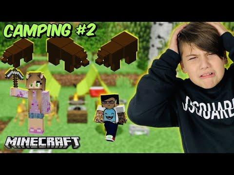 Θα μας φάνε οι αρκούδες στο δάσος Camping Minecraft Famous Games @Let's Play Kristina